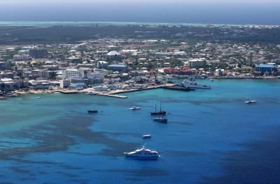 Cruise ships call at George Town, Grand Cayman, specially for the shopping.