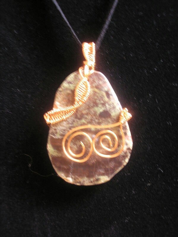 Brown Stone Wired Necklace