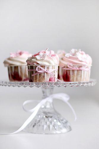 Strawberry cardamom cupcakes by Call me cupcake, via Flickr