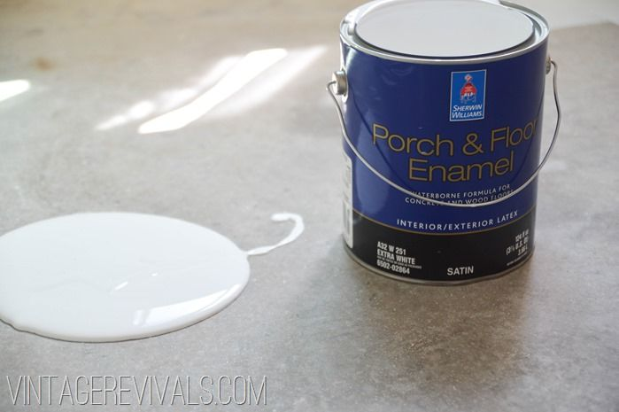 How To Paint Concrete Updated Plus My Secret Cleaning Tip Painting Concrete Porch And Floor Enamel Painted Cement Floors