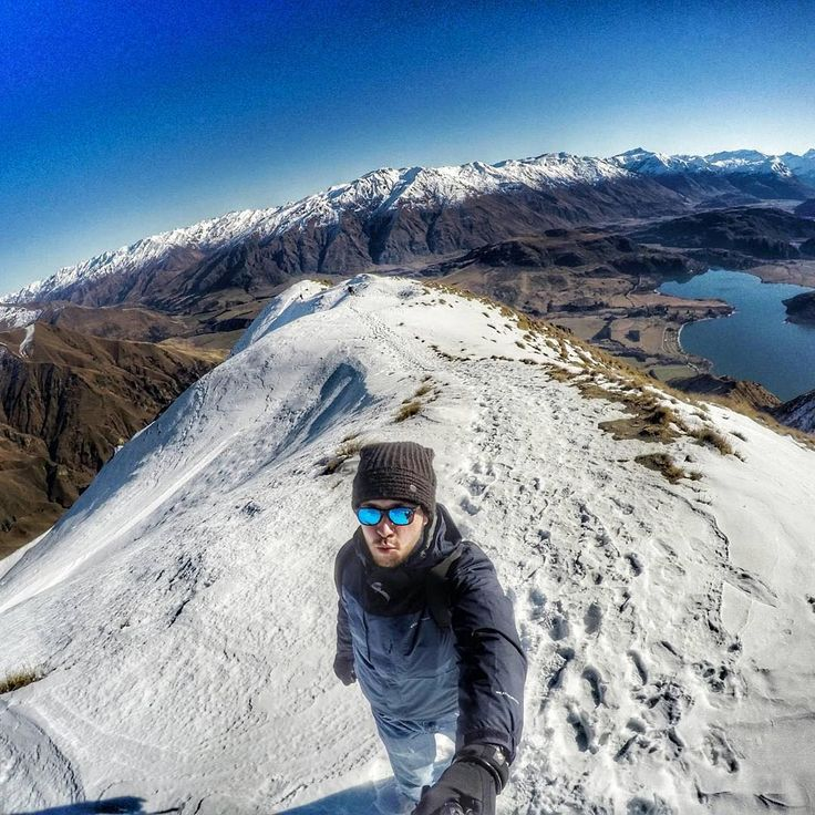 These amazing views will never get bored. This one is from Roys Peak at Lake Wanaka NZ. Another great capture that shows the real beauty of New Zealand. #GoPro #winter #snow #mountains #winterwonderland #newzealand