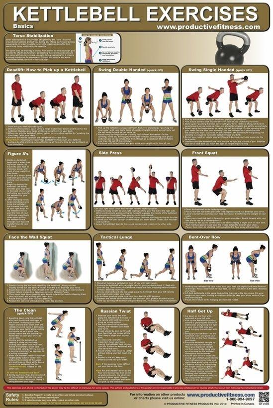 Kettlebell exercises fitness