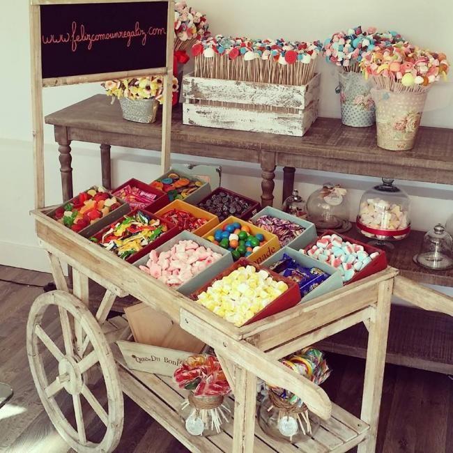 Candy Bar de http://www.felizcomounregaliz.es/ Conseguirás endulzar a los #invitados de tu #boda. #innovias