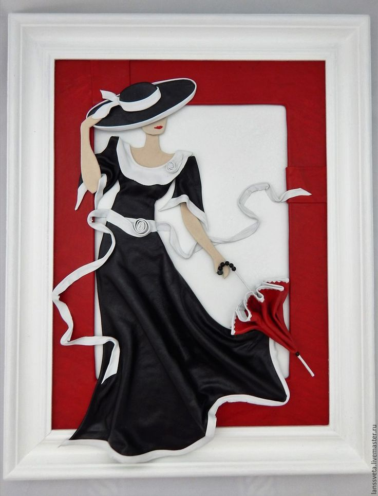 Картина из кожи Дама с зонтиком. Объемная картина из кожи – купить или заказать в интернет-магазине на Ярмарке Мастеров | Изысканна, красива, интересна.<br /> Загадочная…