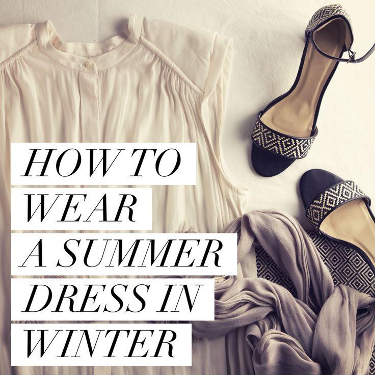 how to wear a summer dress in winter