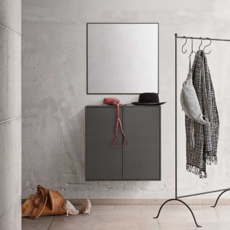 Montana wall-mounted entry unit with square mirror
