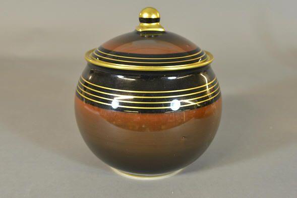 Auksjonshallen: Jar with lid by Nora Gulbrandsen for Porsgrund Porselen