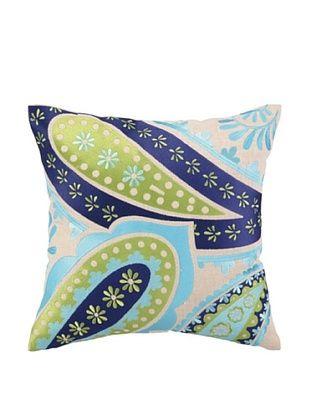 Brejer Boho-Chic Embellished Down Pillow, Blue/Green, 16