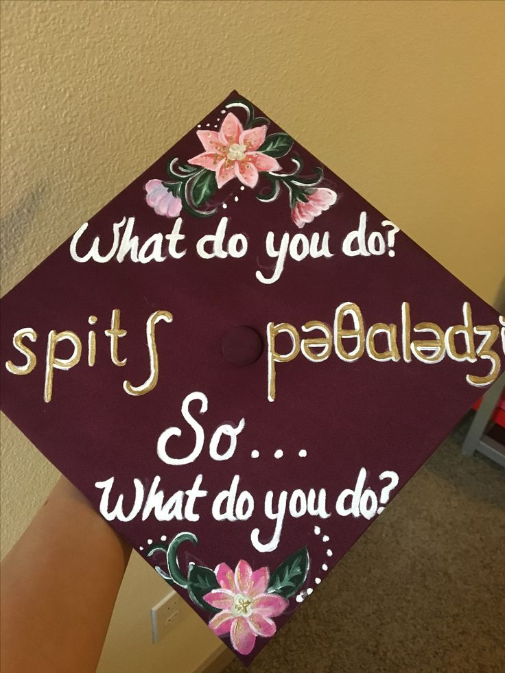 Speech pathology grad cap
