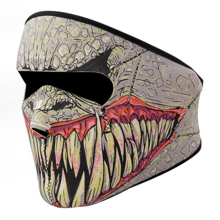 Reversible Neoprene White Skull Full Face Motorcycle Face Mask Clycing Bycycle Masks Filter Windproof Ski Sknow Sport Biker Mask