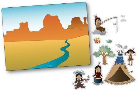 http://dessinemoiunehistoire.net/ Jeu de topologie sur le thème des indiens