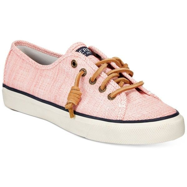 Sperry Women's Seacoast Canvas Sneakers ($60) ❤ liked on Polyvore featuring shoes, sneakers, preppy shoes, canvas sneakers, plimsoll sneaker, plimsoll shoes and sperry top sider sneakers