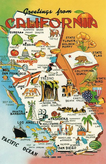 CA map 13 | California | California travel, California map, Travel California Points Of Interest Map on