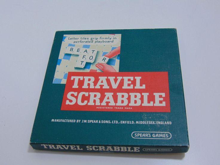 Vintage Travel Scrabble 40