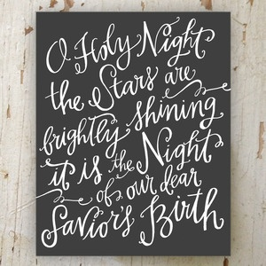 O Holy Night Canvas Print - My favorite Christmas Song.