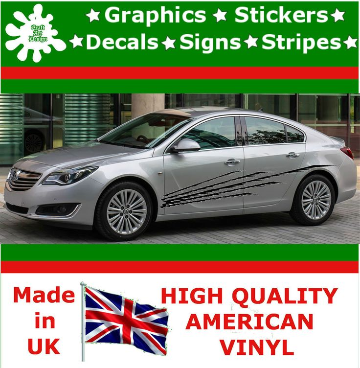 """10"""" High Car Side Stripes Graphics Decal Vinyl Stickers Van Auto Rally Race F3_4"""
