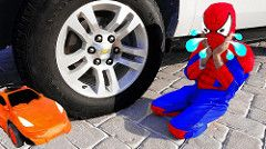 RECKLESS JOKER Crushes SpiderBaby Car Toys Under Car! w/ Spiderman Hulk & Power Wheels in Real Life http://www.youtube.com/watch?v=m3fpDp2gDGE