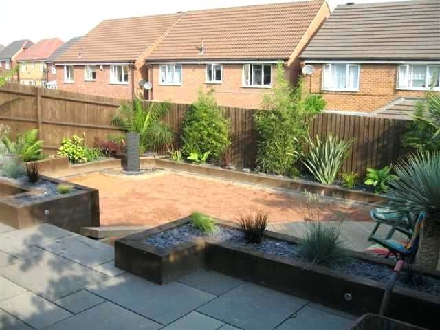 Garden Design Using Sleepers See More