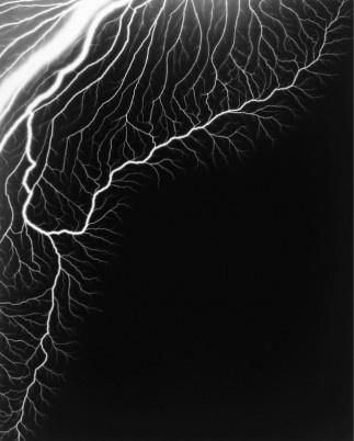 "Hiroshima Sugimoto, ""lightning fields 221"" gelatinous silver print, (2009) 119 x149cm"