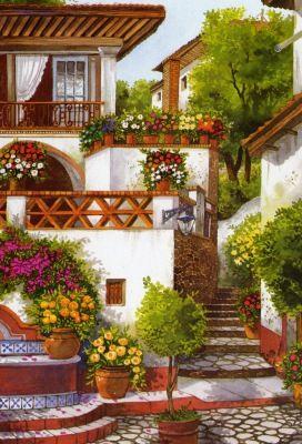 paisajes y pinturas coloniales .