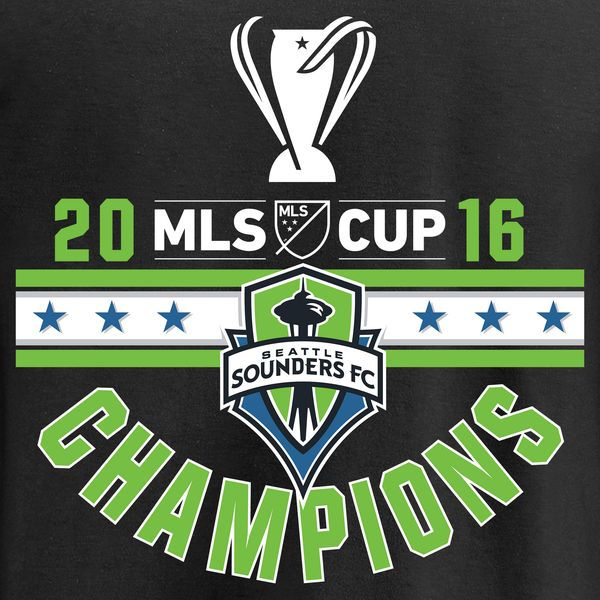Women's Seattle Sounders FC Fanatics Branded Black 2016 MLS Cup Champions Red Card Pullover Hoodie - MLSStore.com