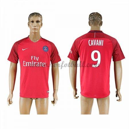 Billige Fotballdrakter Paris Saint Germain Psg 2016-17 Cavani 9 Borte Draktsett Kortermet