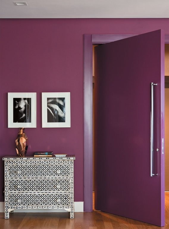 Not crazy about a purple door but love the color of the purple