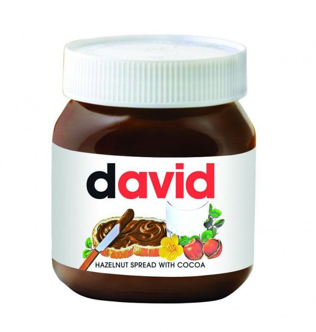 This gift has got your name written all over it - personalised Nutella jars available in store at Selfridges <3