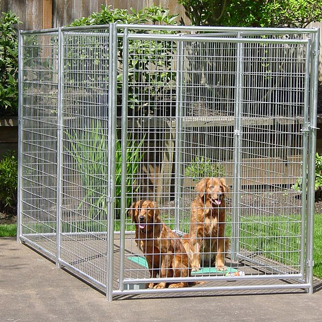 lucky dog 6x10foot galvanized welded wire kennel overstock shopping the best