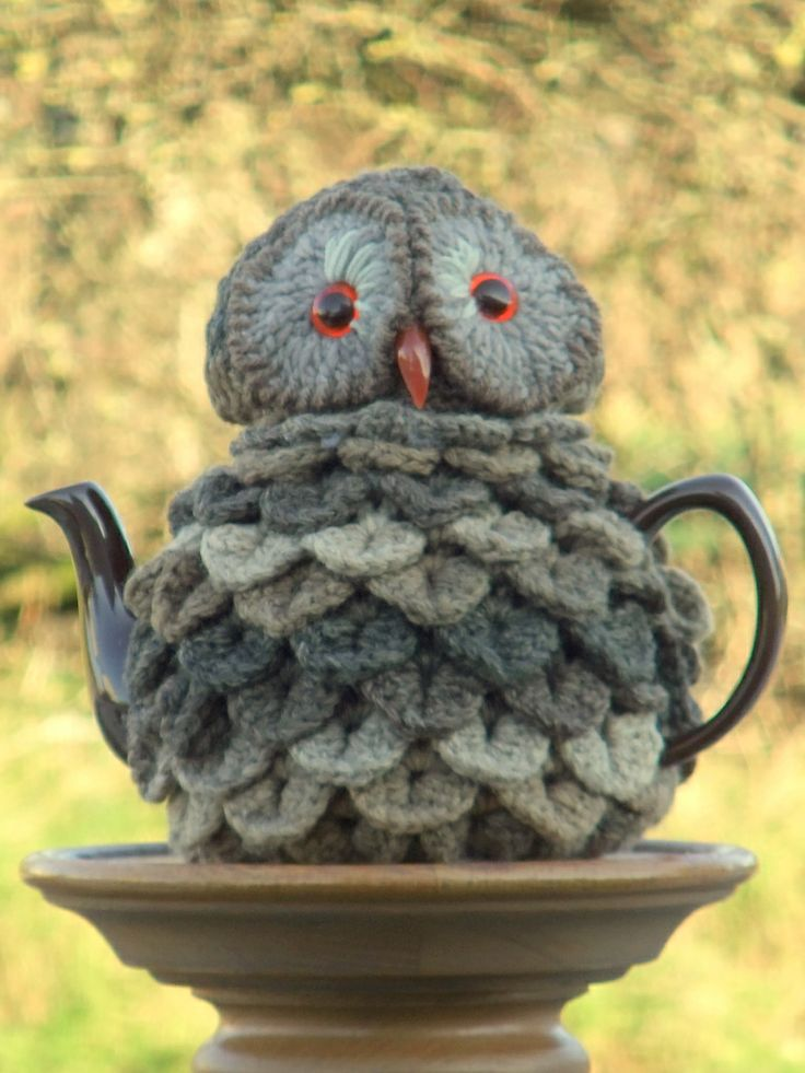 Tarquin the Owl teacosy made for BBC Winterwatch special