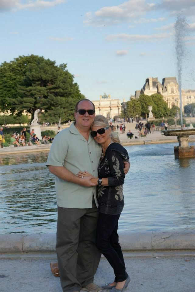 Paris, France....Strolling through the Tuileries, outside the Louvre.