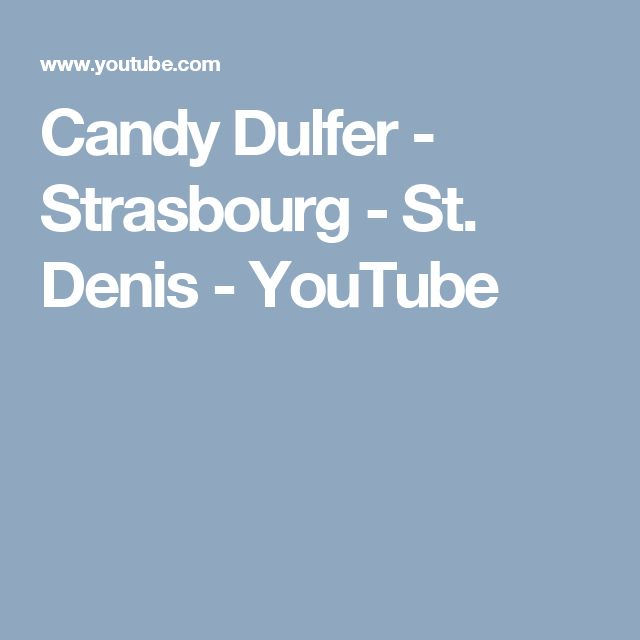 Candy Dulfer - Strasbourg - St. Denis - YouTube