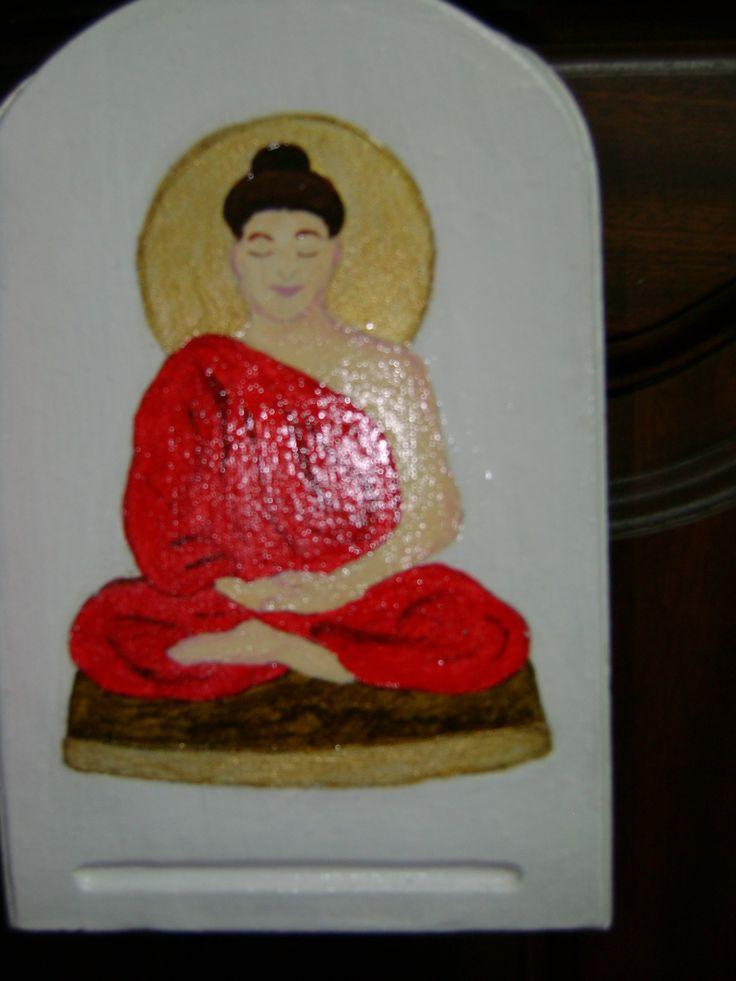 Buda pintado por Teresa