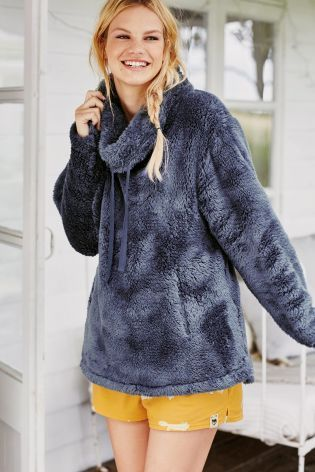 Blue Snuggle Top