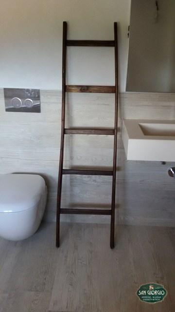 scala-estauro-porta asciugamani in legno-legno-scala a pioli ...