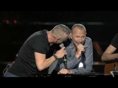 Biagio Antonacci con Eros Ramazzotti Live San Siro 2014