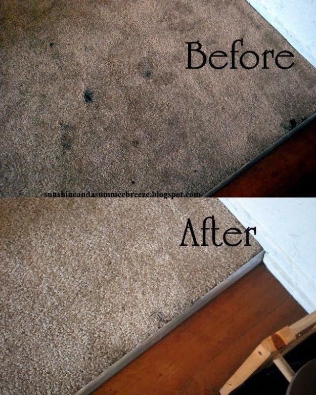 Banish any lingering carpet stains with vinegar, water, and your iron. | 7 Bedroom Cleaning Ideas You'll Actually Want To Try #CheapCarpets