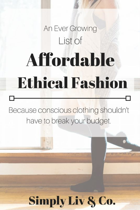 Because ethical fashion doesn't have to break the bank