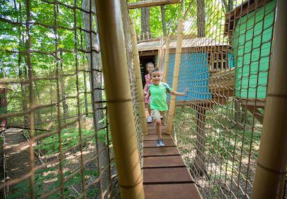 Children Treetop Trekking at Bruce's Mill Conservation Area