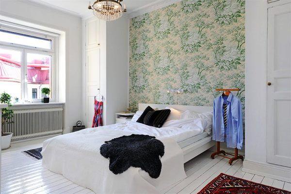модные обои для стен спальни фото
