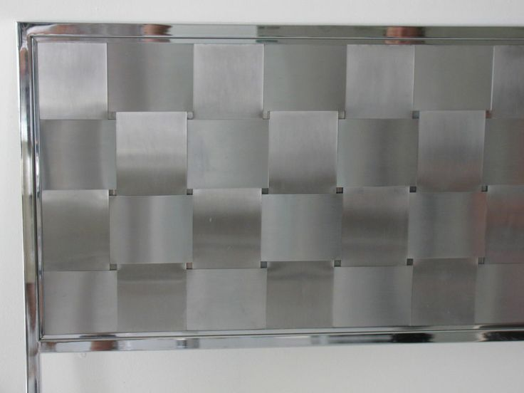 Midcentury King Size Woven Metal Headboard Metal Headboard