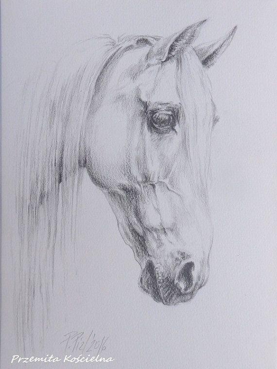 HORSE PORTRAIT Horse Head Graphite Pencil by CanisArtStudio, #HORSEPORTRAIT, #animalart, #horseart