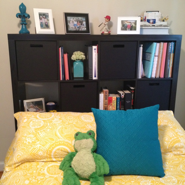 Using Ikea S Expedit Storage Unit As A Headboard