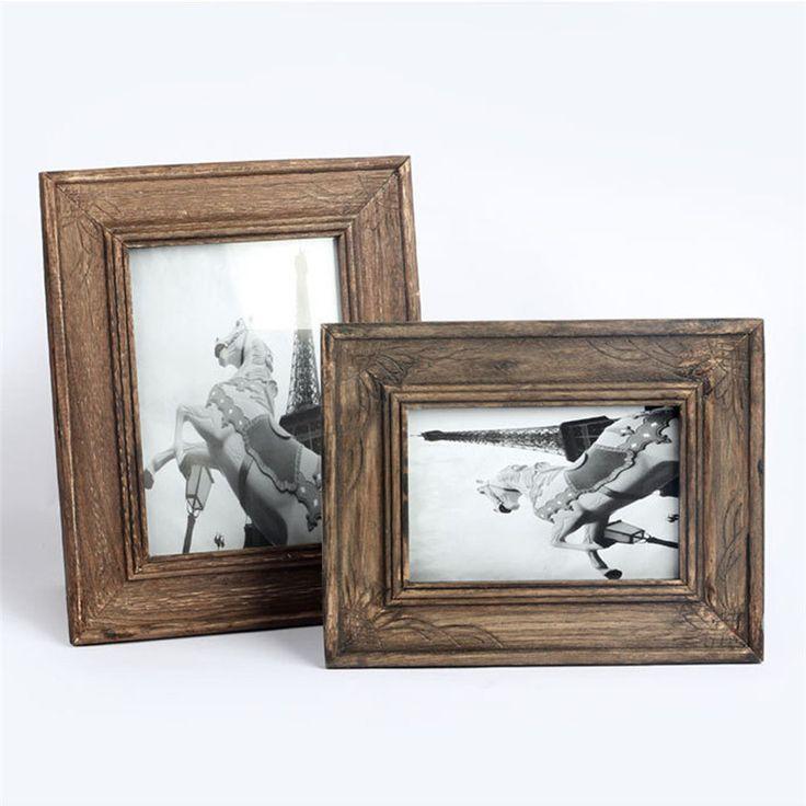 Zero Vintage Photo Frame Home Decor Wooden Wedding Casamento Pictures Frames