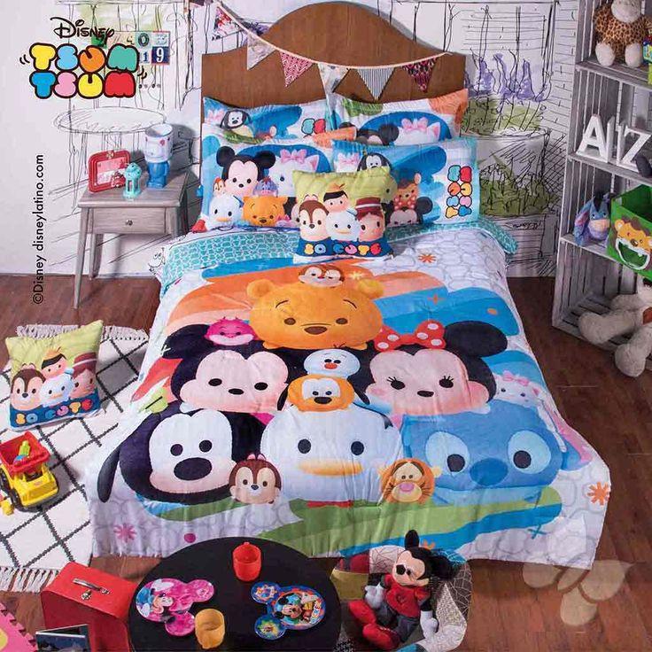 Disney Tsum Tsum Comforter Set $179.90-$194.90 - A Bit Unique Boutique #ComforterSets
