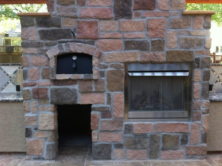 Outdoor Wood Fired Oven And Fireplace
