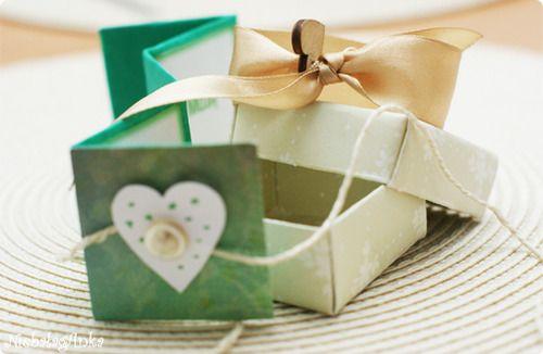 Wedding DIY, gift box
