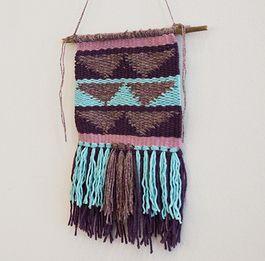 Tutoriale DIY: Cómo hacer una alfombra decorativa para la pared vía DaWanda.com