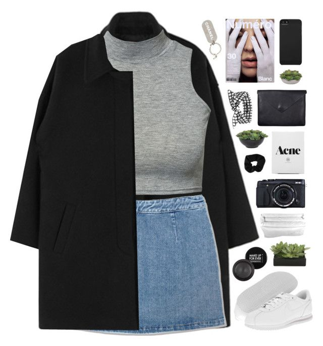 """""""Where have you been / 21.16"""" by shaniaayr ❤ liked on Polyvore featuring moda, Levi's, NIKE, Just Female, SCENERY, Lux-Art Silks, Incase, Topshop, Frette e MAKE UP FOR EVER"""