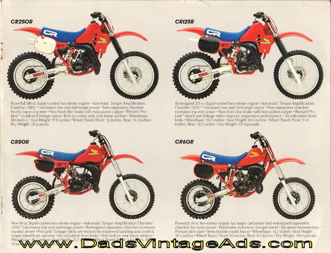 1984 Vintage Honda Dirt Motorcycle Brochure – Quick and Dirty » www.DadsCycleMags.com